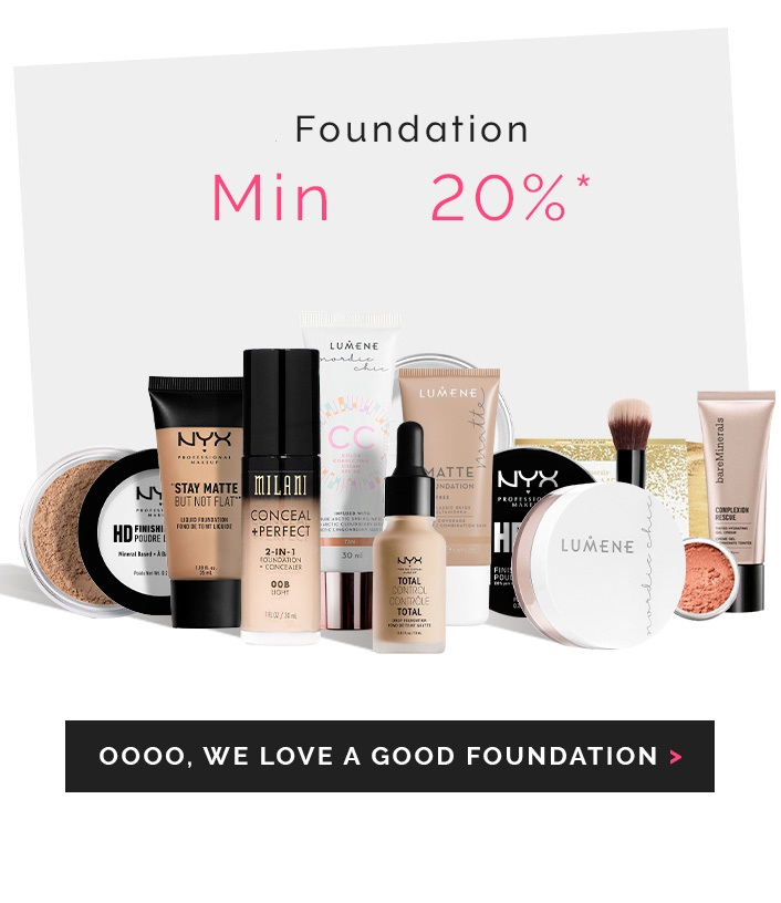 Foundation minst 20% rabatt